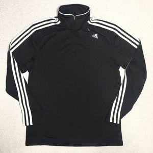 Adidas - Black Half Zip Arm Stripe Pullover Jacket